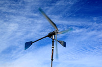 Do it yourself wind turbine for generatoring electricity.