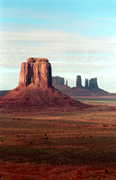 Great view the massive magnitude of Monument Valley on a cool winter morning.