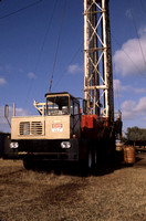 Workover rig used to maintain and repair broken oil wells.