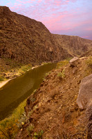 Overlook view of the Rio Grande river and Mexico.