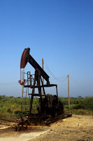 Isolated pump jack is in the second oldest production field in Texas