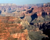 Great view shows the vast rugged Grand Canyon.