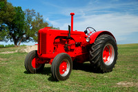 A restored tractor used in tractor-pull contest.