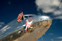 Vintage cargo aircraft DC-3 on static display at Airfest 2008.