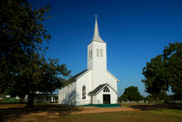 Country church is the focal point of the church ground and cemetry,
